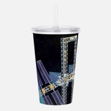space station freedom Acrylic Double-wall Tumbler