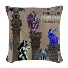 Gargoyles Woven Throw Pillow