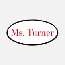 Ms Turner-bod red Patches