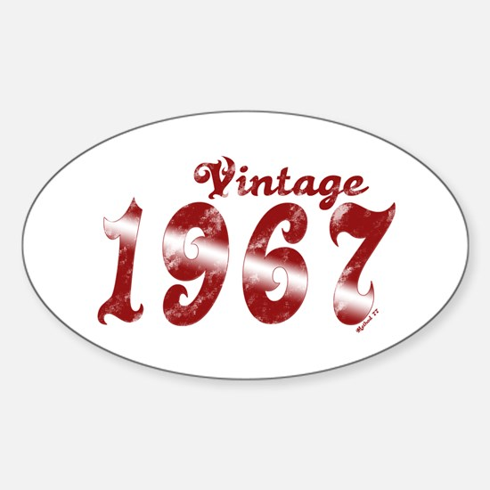 Vintage 1967 Oval Decal