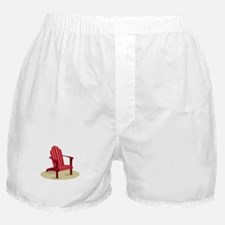 Red Beach Chair Boxer Shorts