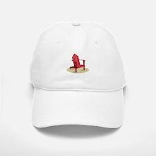 Red Beach Chair Baseball Baseball Baseball Cap