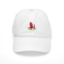Red Beach Chair Baseball Baseball Cap