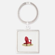 Red Beach Chair Keychains