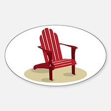 Red Beach Chair Decal