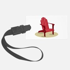 Red Beach Chair Luggage Tag