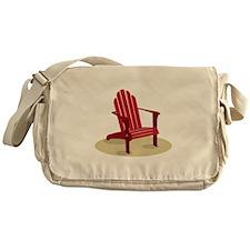 Red Beach Chair Messenger Bag