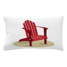 Red Beach Chair Pillow Case