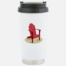 Red Beach Chair Travel Mug