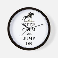 Keep Calm and Jump On Horse Wall Clock