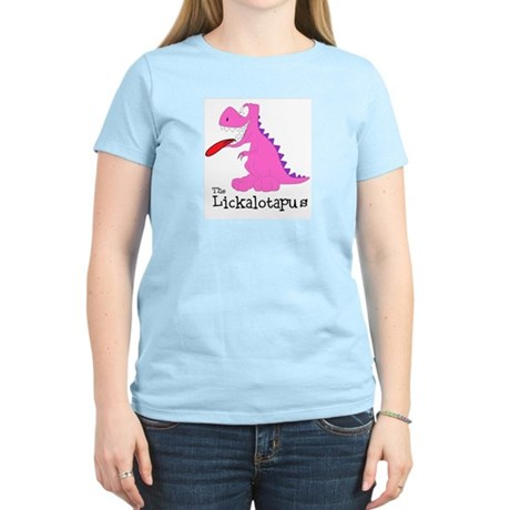 Lickalotapus Women's Pink T-Shirt