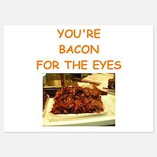 bacon 5x7 Flat Cards