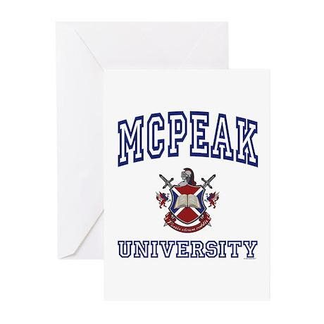MCPEAK University Greeting Cards (Pk of 10)