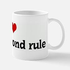 I Love the 3 second rule Mug