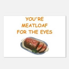 meat loaf lover Postcards (Package of 8)