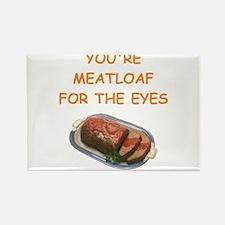 meat loaf lover Rectangle Magnet