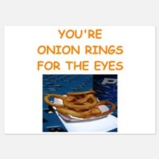 onion ring lover 5x7 Flat Cards