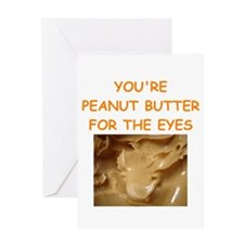 peanut butter lover Greeting Card