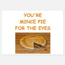 mince pie 5x7 Flat Cards