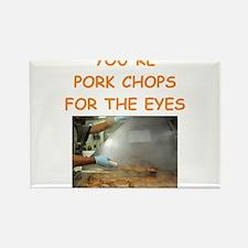 pork chop lover Rectangle Magnet