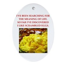 scrambled eggs Ornament (Oval)