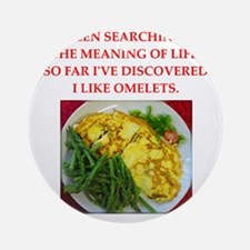 omelet Ornament (Round)
