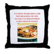 french toast Throw Pillow