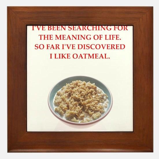 oatmeal Framed Tile