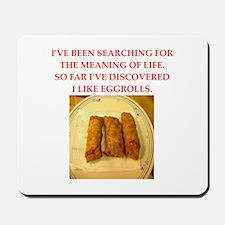 egg roll Mousepad