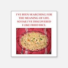 "fried rice Square Sticker 3"" x 3"""