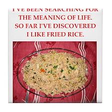 fried rice Tile Coaster