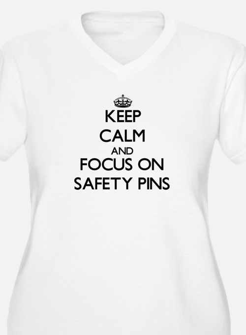 Keep Calm and focus on Safety Pi Plus Size T-Shirt