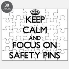 Keep Calm and focus on Safety Pins Puzzle