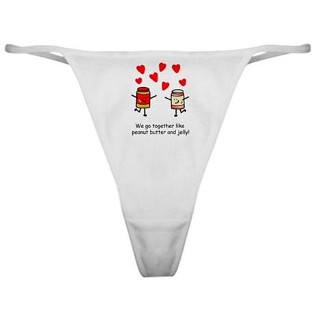 Peanut Butter and Jelly Classic Thong