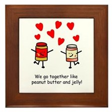 Peanut Butter and Jelly Framed Tile