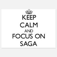 Keep Calm and focus on Saga Invitations