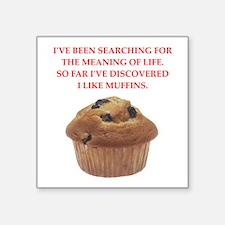 "muffins Square Sticker 3"" x 3"""