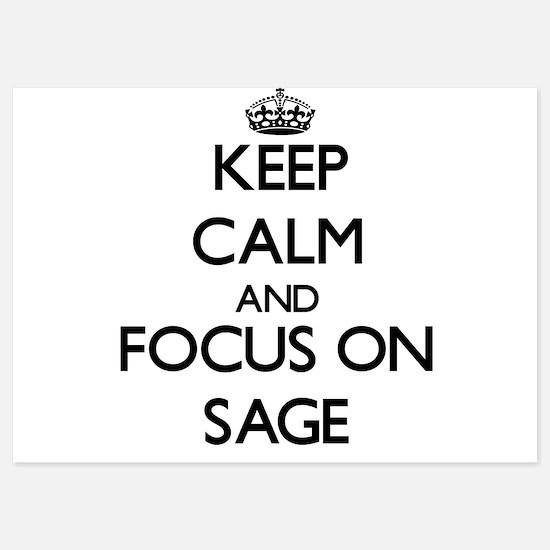 Keep Calm and focus on Sage Invitations