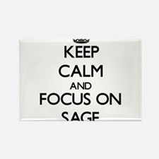 Keep Calm and focus on Sage Magnets