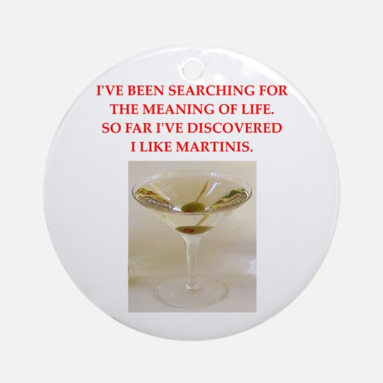 Martini (round) Round Ornament