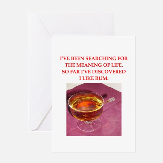 rum Greeting Card