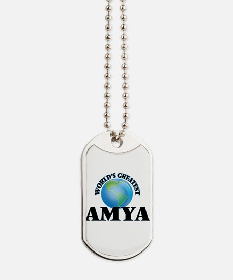 World's Greatest Amya Dog Tags