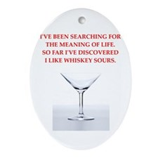 whiskey sour Ornament (Oval)