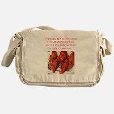 crawfish Messenger Bag