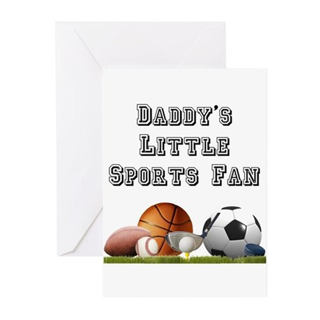 Daddy's Little Sports Fan Greeting Cards (Package