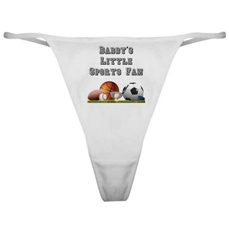 Daddy's Little Sports Fan Classic Thong