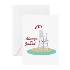 Always on Guard Greeting Cards