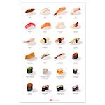 Sushi Ensemble (23'' x 35'') (english)