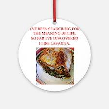 lasagna Ornament (Round)