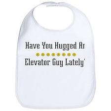 Hugged Elevator Guy Bib
